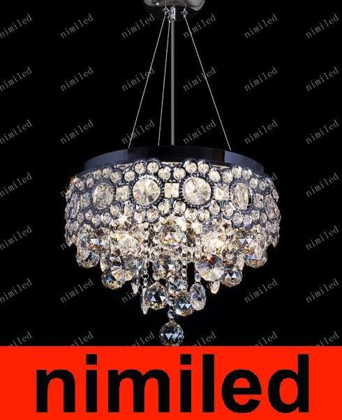 nimi522 Crystal Restaurant Pendant Lamp / Ceiling Lamps Bedroom Aisle Lights Porch LED Lighting Hanging Round Crown Chandelier DropLight