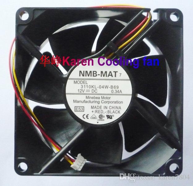 Оригинальный НМБ-мат 3110KL-04W-модели b69 8025 8 см 12 В 0.34 а для Хитачи вентилятор проектора 1004KL-04W-В30