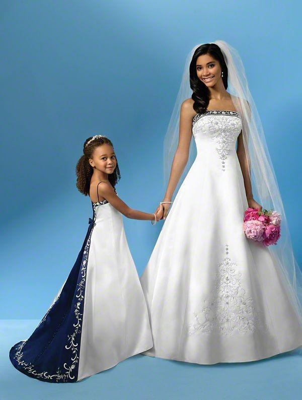 2020 Hot Selling Satin Embroidery Bridal Gowns Strapless A-Line White and Purple Wedding Dresses Size 4 6 8 10 12 14 16 ++
