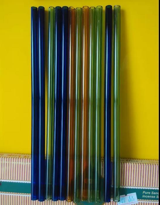 Бесплатная доставка оптовых аксессуаров для кальяна - цветное стекло, длинный 20см, цвет произвольная доставка