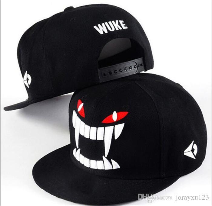 20pcs WUKE Big teeth south Korean baseball cap hipster hats in hip hop hat J019