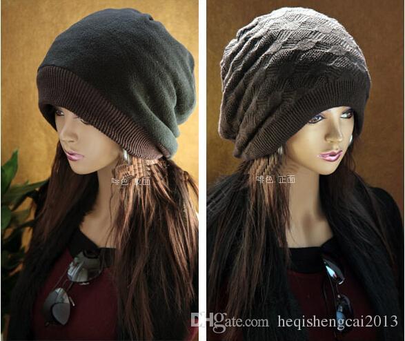 2016 горячие продажи Мужчины Женщины флис смешанные пряжи двойной поверхности шляпа хип-хоп шапка вязание сетки жаккард с толстой крышкой 10 шт.