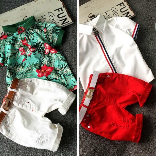 Мода новая детская одежда комплект baby boy хлопок футболка шорты дети комплект для лета мальчик мультфильм одежда подходит 2 цвета 2-7 т