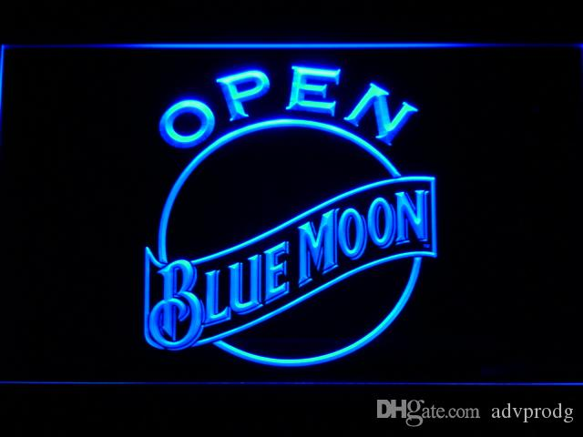 052 Blue Moon Bar Beer LED Neon Light Sign Wholeseller Dropship Free Shipping 7 colors to choose