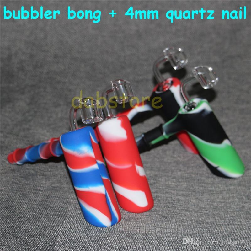 hundehammer hammer form silikon wasserbongs silikon rauchen tabak pipe handleitungen nektar kollektor mit quarznägeln dhl frei
