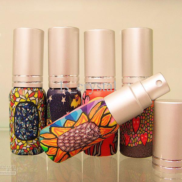 6 ml mini lege parfum verstuiver vulbare zak geur geurige flessen glas essentiële olie flesspuitfles promotie 10pcs / lot