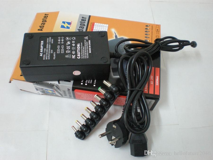 Promotion Chaude Universelle 96 W Ordinateur Portable Notebook 15V-24V AC Chargeur Adaptateur secteur avec 8 connecteurs Livraison Gratuite