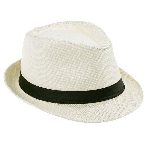 Moda Unisex Starw Panama Kapelusze Fedory Stylowe Lato Skrzydły Brim Beach Travel Caps Ivory ZDS6 * 10