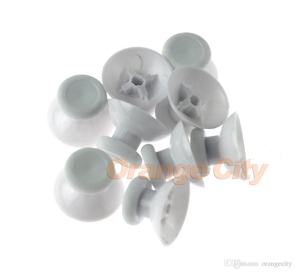 Schwarz weiß 3d analog daumen sticks für xbox one xboxone elite s slim controller analog thumbsticks caps pilz