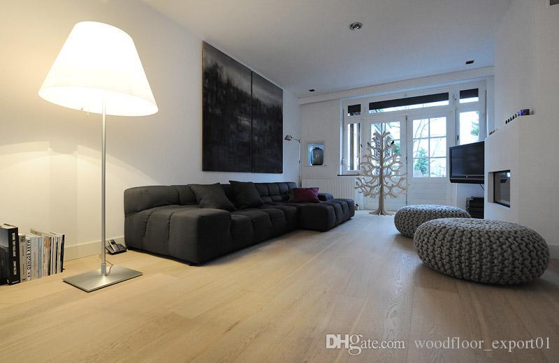 white oil wood floor Antwood flooring Brushed flooring Large living room floor European style Antique room floor European style wooden floor
