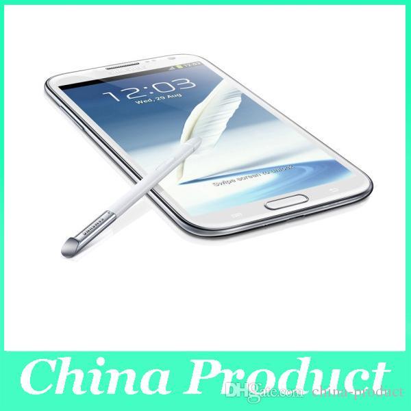 """Оригинальный Samsung Galaxy Note2 N7100 Quad Core 8MP камера Android 4.1 мобильный телефон 5.5 """"HD 1 ГБ оперативной памяти"""
