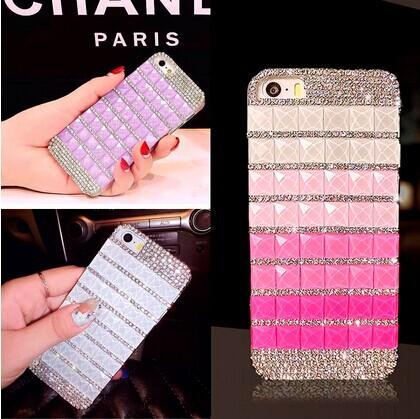 sports shoes a17dc fe915 For Iphone 6 Case 3D Luxury Crytal Rhinestone Full Diamond DIY Hard Case  Cover For IPhone 6 Plus 4.7 Inch Iphone 5 5S Bling Girls Durable Cell Phone  ...