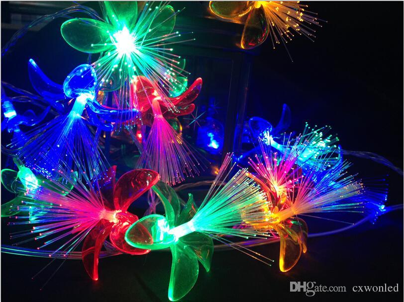 Праздник цветы Моделирование LED гирлянд 4м Красного Синий Зеленый желтый белый фея гирлянды для праздничного Рождественского светового оформления