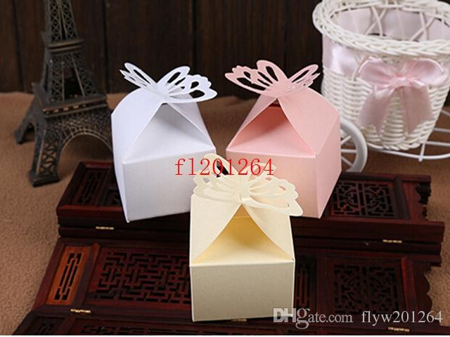 Free Shipping Pearl paper Wedding Butterfly Candy Box Baby Shower Favor Box Favour Box Gift Box 4 colors,5000pcs/lot