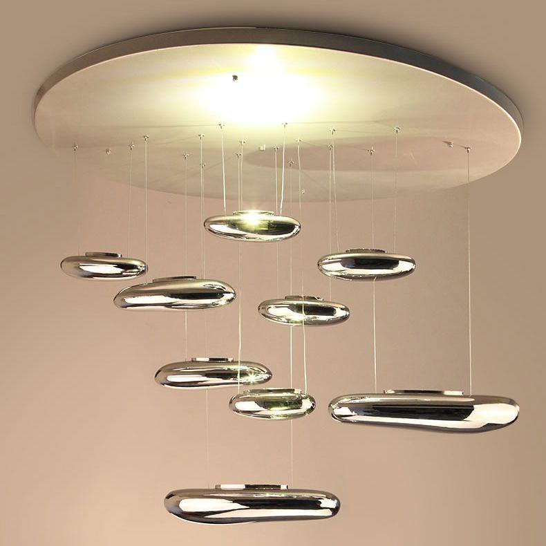Lâmpadas LED Pingente de Gota de Água Droplight Droplight Moda Iluminação Do Hotel Sala de estar Luz de Teto Lustre Galvanoplastia Lustre