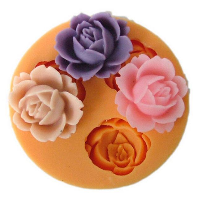 3D 꽃 실리콘 금형 초콜릿 퐁당 케이크 Sugarcraft 굽기 도구 TY1754 장식 굽기
