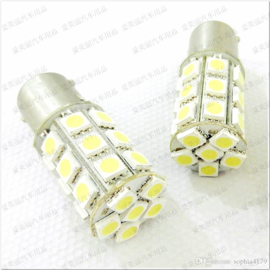 Promotion de haute qualité 50pcs 1156 1157 Trun Signal Led Ampoule 27SMD 5050 27 Led Feu Arrière Lampe Feu 12V / 24V 27 SMD