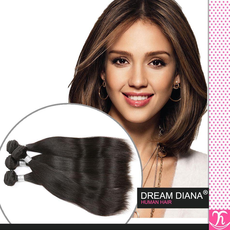 6a Роза волос девственницы бразильская Прямые волосы девственницы 4шт бразильский прямые волосы Jet Black Virgin Natural Wave Tape Extensions Принцесса волос