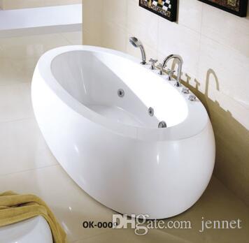 Freistehende Badewanne aus ovalem Steinharz mit CUPC-Wasserzeichen und CE-Zertifikat. Italienischer Klassiker