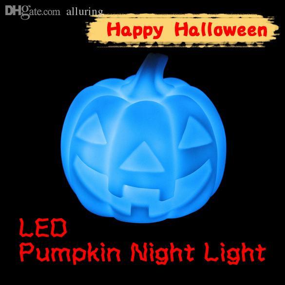 Atacado-Hot Auto mudança de cor Mood Lamp LED Abóbora Night Light Party Decoração Brinquedos Presentes Nova Promoção Frete Grátis