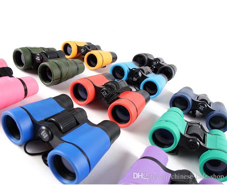 4x30 Plastic Plastic Binoculares Telescopio de bolsillo Maginificación para niños Juegos al aire libre Boys Toys Regalo 20pcs / lot