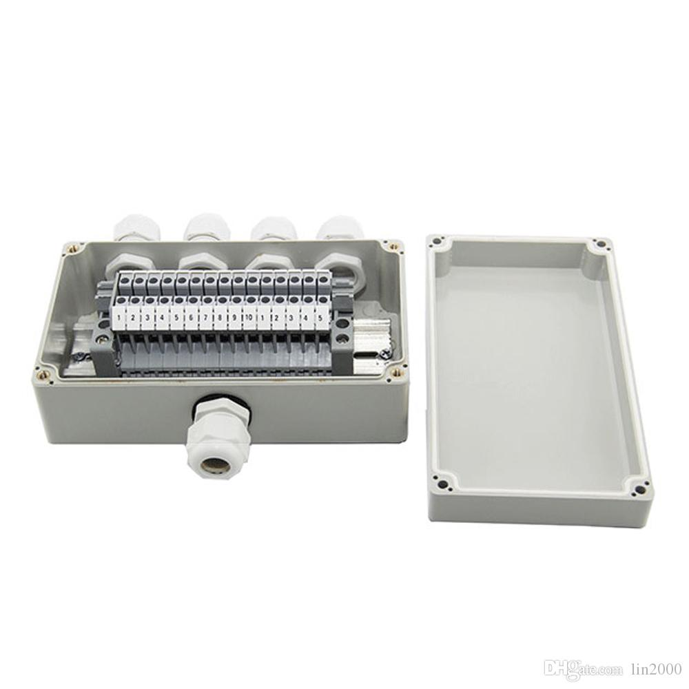 IP65 Waterproof Cable Wiring Junction Box 1 in 4 out 158*90*60mm with UK2.5B Din Rail Terminal Blocks