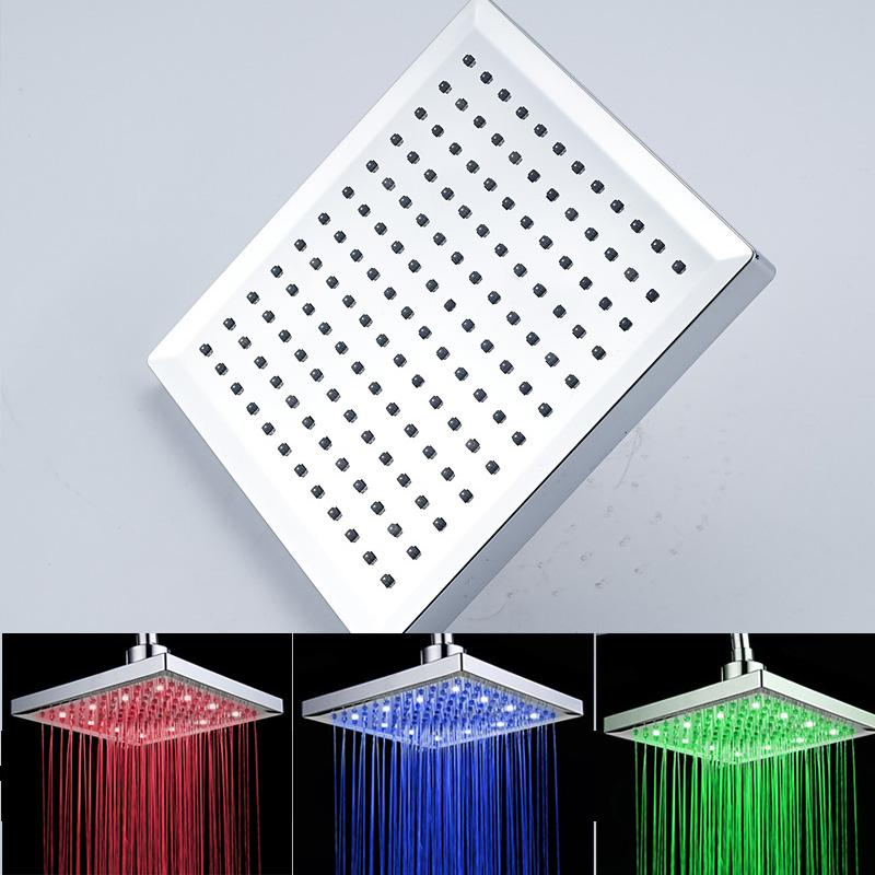 Лучшие продажи высокое качество 8 дюймов ABS пластик Материал тропический душ с LED свет изменение цвета