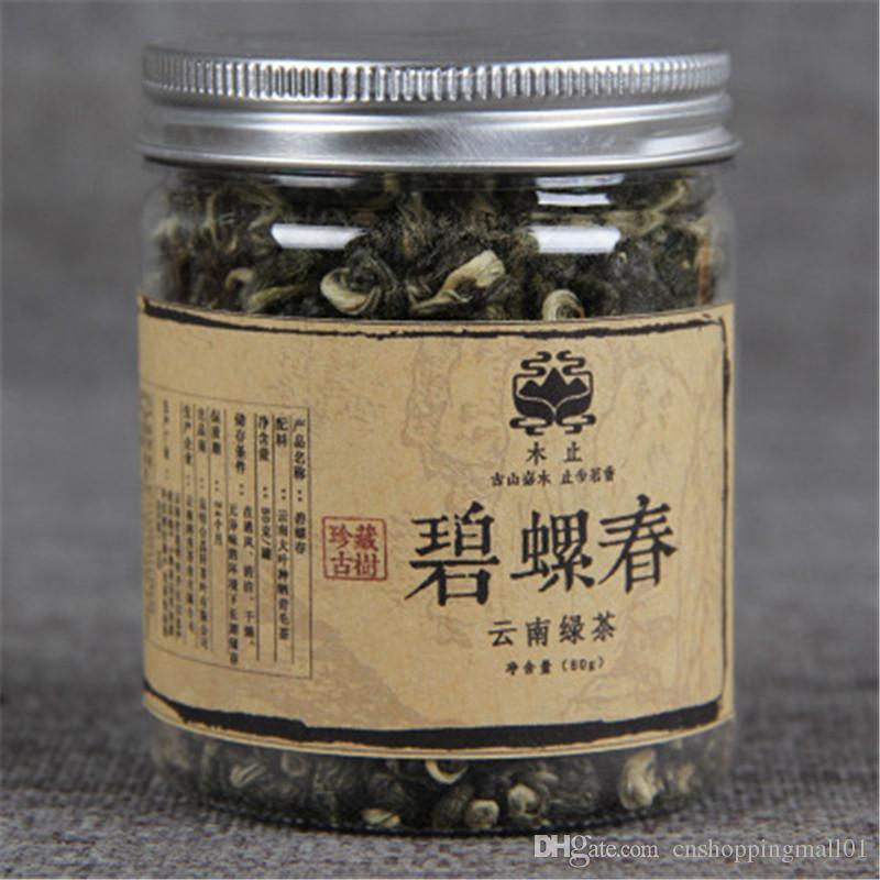 80g chinesischen Bio-Konserven Yunnan biluochun Aromatic Green Tea Health Care Raw Tea New Scented Tea Green Food