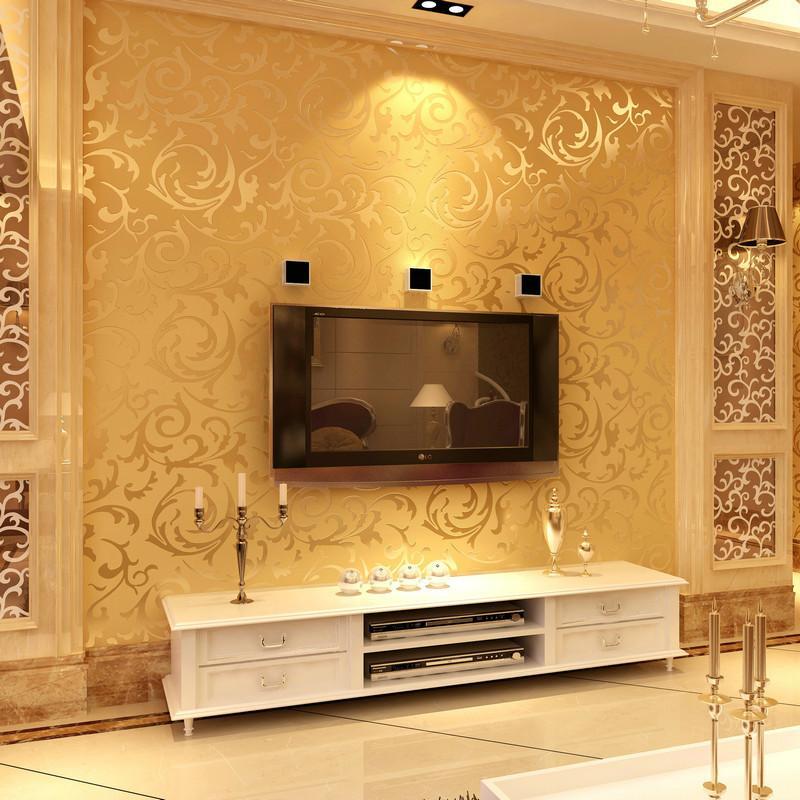 Großhandel 3d Europäischen Wasserdicht Wohnzimmer Tapete ... Wohnzimmer Schwarz Weis Gold