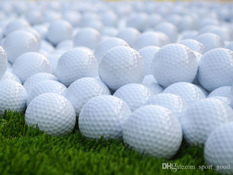 Camadas New White Golf Match Game Formação Prática Rubber Ball duplas alto grau Golf Ball Branco frete grátis