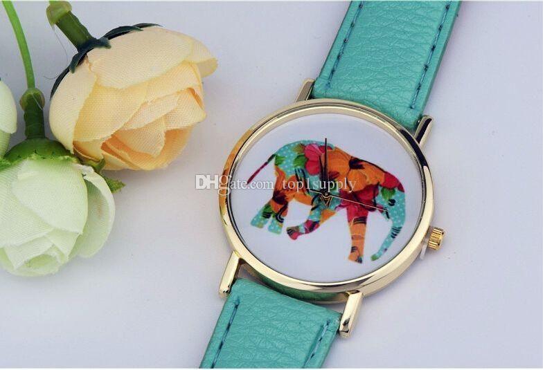 2018 New YOYO WATCH SUPPLY Women Ladies Geneva Watches Fashion Design Lovely Animal Elephant Dial Face Bracelet Watches