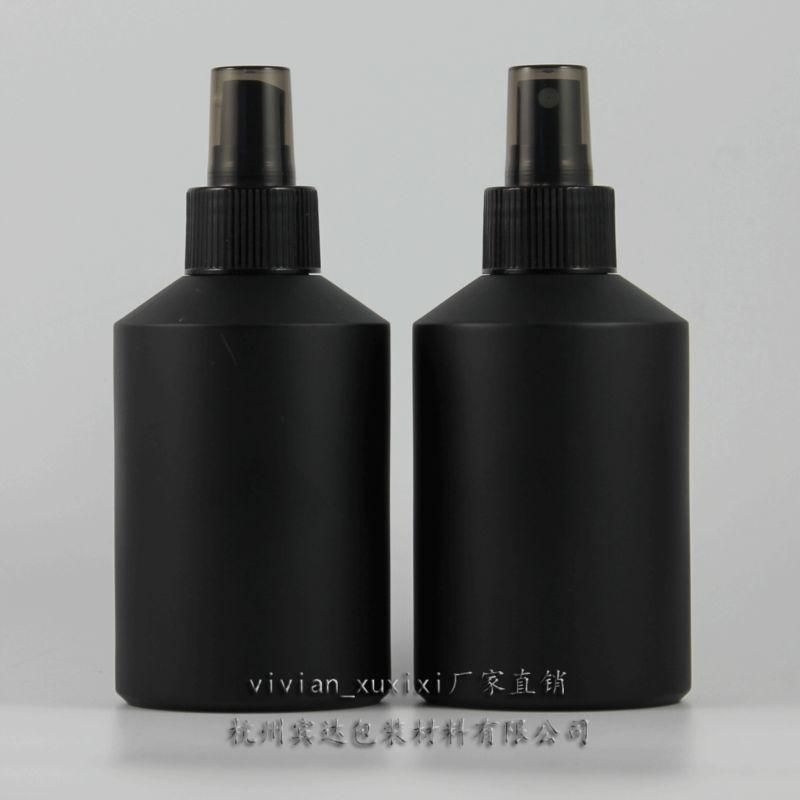 검은 플라스틱 펌프, 화장품 포장, 화장품 병, 액체에 대한 포장과 200ml 검은 서리로 덥은 유리 로션 병