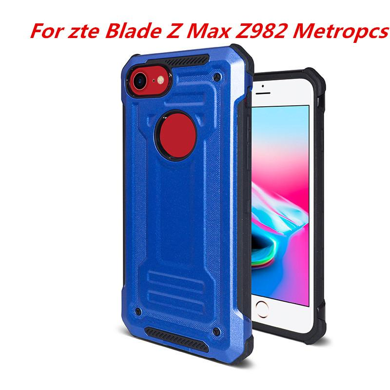 innovative design bcabc bf642 HybridArmor Case For ZTE Blade X Z965 Cricket Blade Force N9517 Warp 8  Blade Z Max Z982 Metropcs Dual Layer Protection Cover C Custom Cell Phone  Cases ...