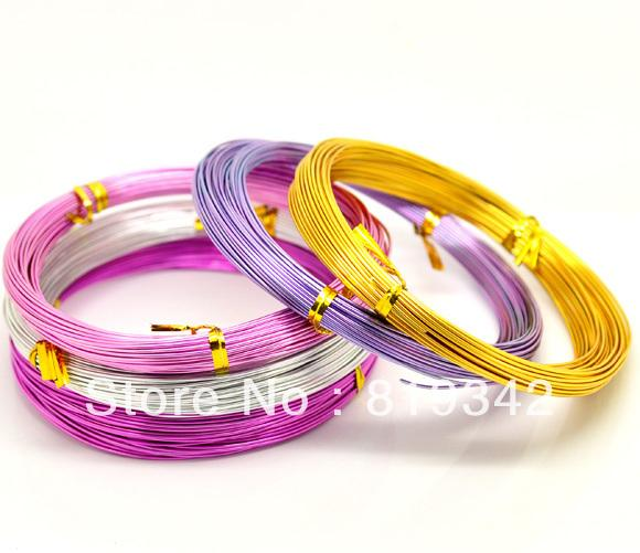 Wholesale-Free Shipping 5Rolls(5x20M) Mixed Color Aluminum Wire Jewelry Making 1mm