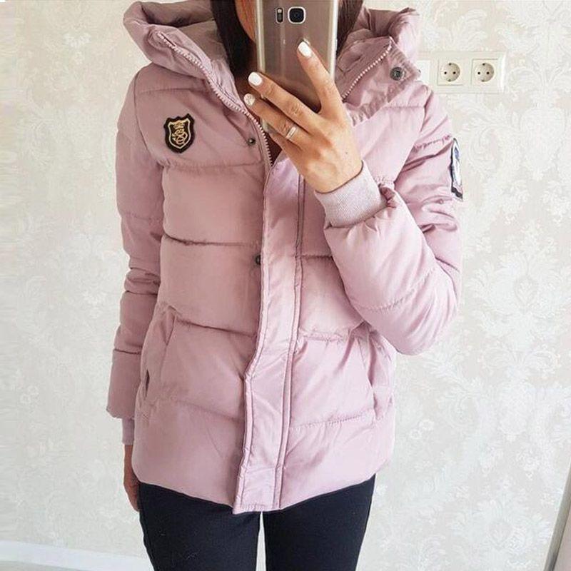 2017 새로운 디자인 여성 파커 짧은 여자면 패딩 재킷 가을 겨울 여성 재킷 코트 후드 플러스 크기