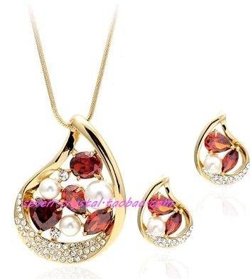 серьги с бриллиантами и бриллиантами (44 + дополнительные 4 см), серьги (2,6 * 2 см) (myyhmz)