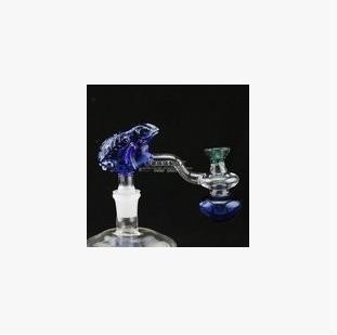 Бесплатная доставка Оптовая кальян аксессуары - стеклянная воронка лягушка кальян аксессуары