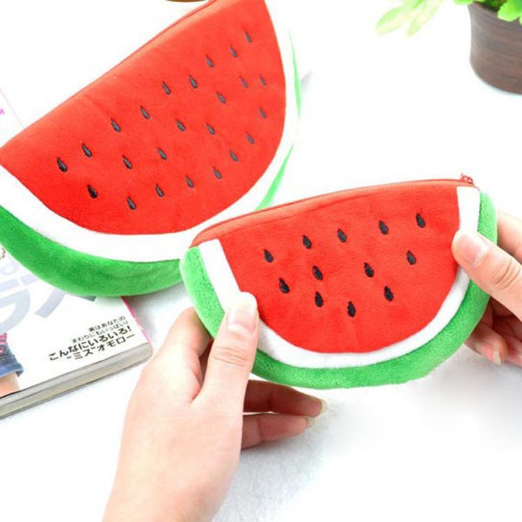 Borse up watermelon con cerniera borsa organizzatore ragazza rendono portachiavi sacchetti carino sacchetto stoccaggio donne mini cosmetico puatb