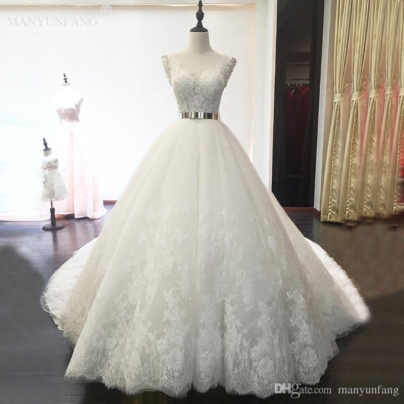 High Quality Bohemian Castel Lace Wedding Dresses With Sheer ...