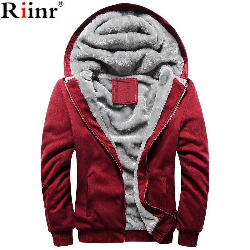 Venta de la marca 2021 lana caliente al por mayor- con capucha con capucha de hombres con capucha de riinr de hombros engrosados para hombre nuevo invierno cálido forro masculino sudaderas masculinas OUTWEA TUCB