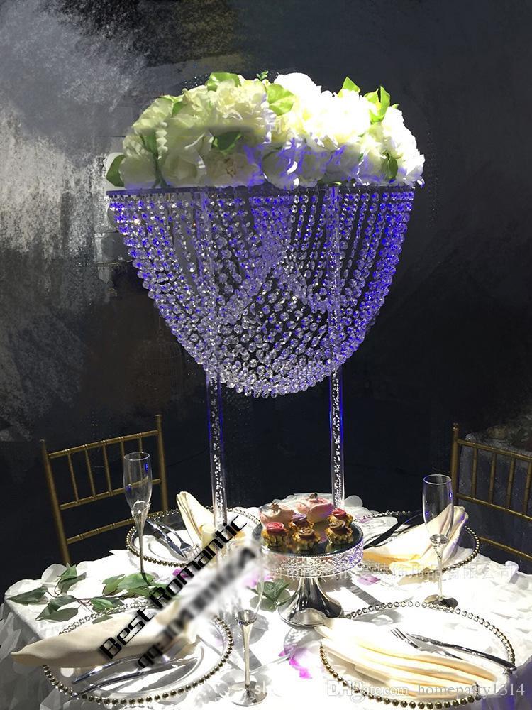 الاكريليك الجدول الزفاف عرض إناء الزهور موقف كعكة بيو كعكة الزفاف الديكور عرض الجدول حامل الزفاف المركزية هدايا فنية