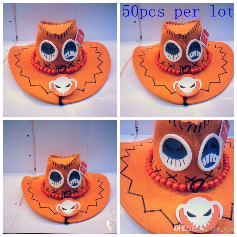 50pcs/lot 2015 cute cartoon leagure of legend LOL anime ACE orange cowboy Hats Cartoon Cosplay hat as gift