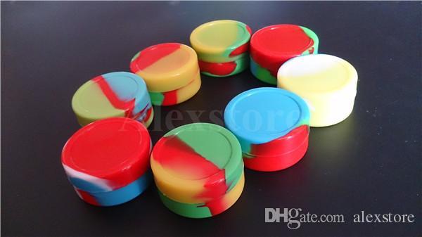 Contenitori silicone antiaderente Contenitori in silicone Contenitori in silicone Contenitori in silicone da 55 * 28mm 22ml per la conservazione degli articoli in gomma approvato dalla FDA DHL