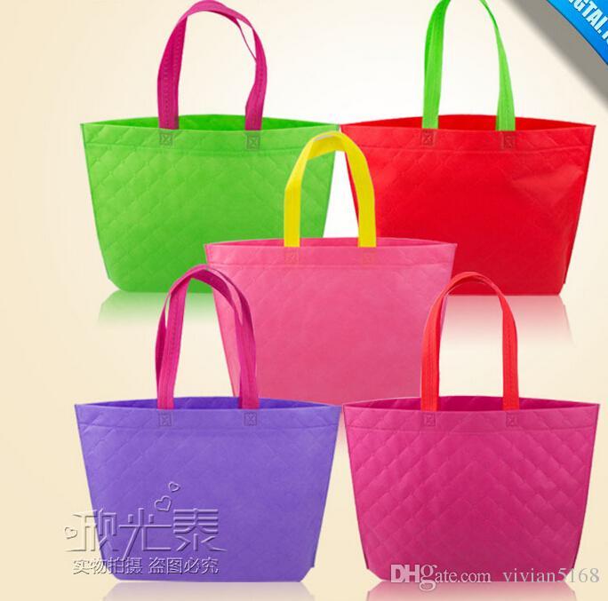 Diseño Moda Embalaje Paño Bolsas Bolsa de tela Bolso Bolso Reciclable Compras Compras Simple Eco Sano Tote Hight Gift Bolsas Reutilizables Objfc