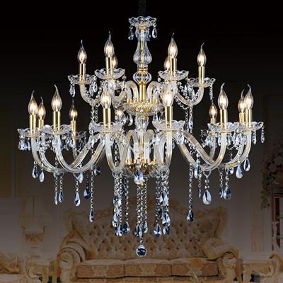 modern living room chandelier crystal pendant chandelier lighting led canlde light dining room clear crystal hanging light home led lamparas
