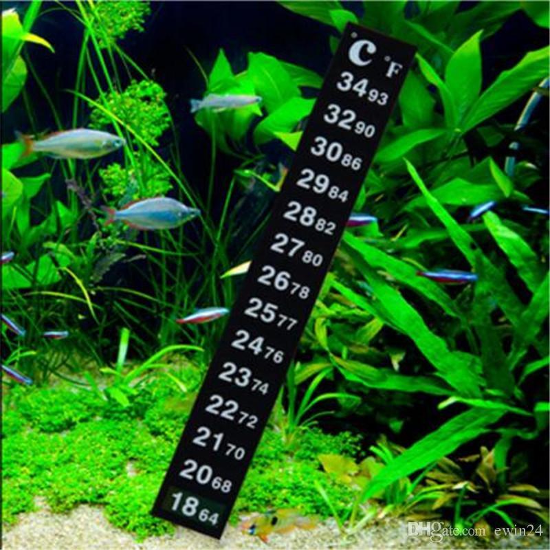 Пивоваренная полоска термометр рыб аквариум температуры наклейки наклейки шкалы аквариумные рыбы столовые двойные внутренние холодильника морозильная камера
