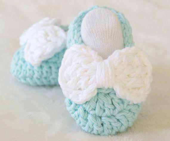 Handmade Crochet Bébé Garçon Fille Chaussons Chaussures Early bébé nouveau-né à 12 M