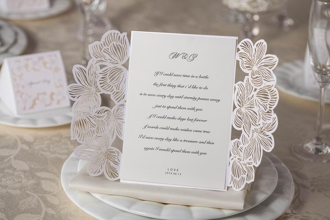 Wedding Invitations Cards Personalized Floral Wedding Cards Invitations Printable Wedding Invitations Laser Cut Greeting Cards Free Shipping