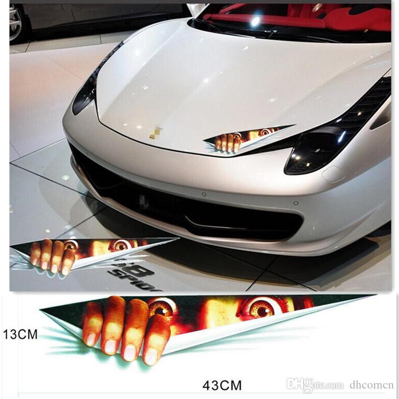 Großhandel 43 13 Cm Lustige Auto Aufkleber 3d Augen Spähen Monster Voyeur Auto Hauben Stamm Thriller Heckscheibe Aufkleber Von Dhcomcn 071 Auf