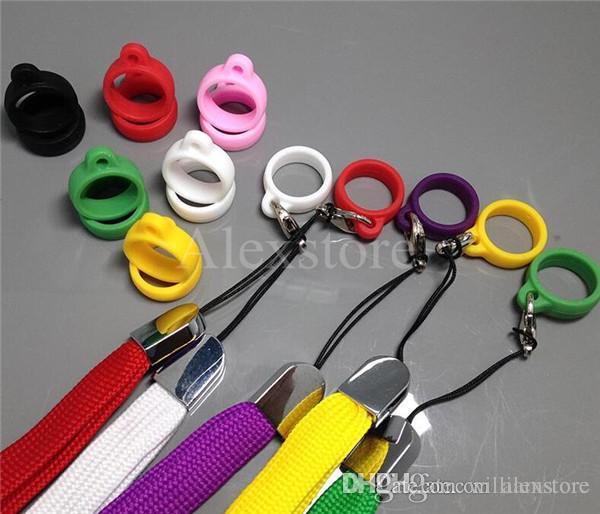 Anillos de cordón de silicona Anillos de silicio de orings collar colorido o clips de cuerda para e cig visión spinner ego evod batería vape pluma DHL